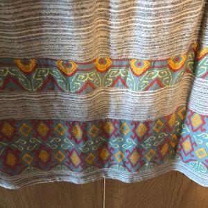 Maison Jules Dresses - Striped tribal print dress